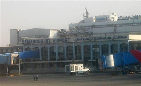 قذائف صاروخية تسقط على مدرج مطار دمشق الدولي