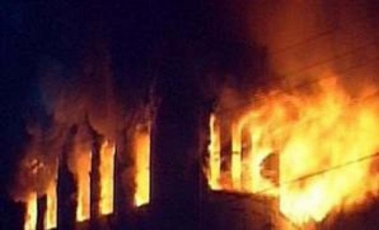عجلون: 5 اصابات بحريق منزل بعين جنا