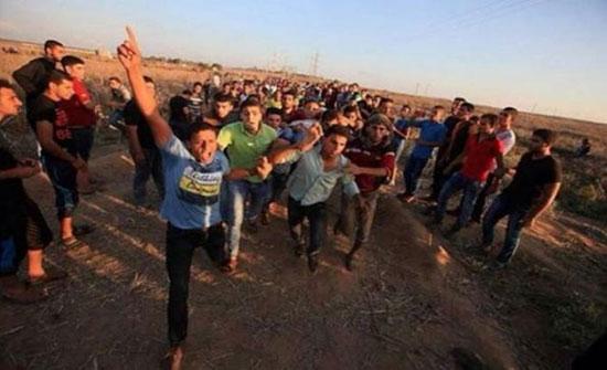 24 اصابة برصاص الاحتلال شرقي قطاع غزة