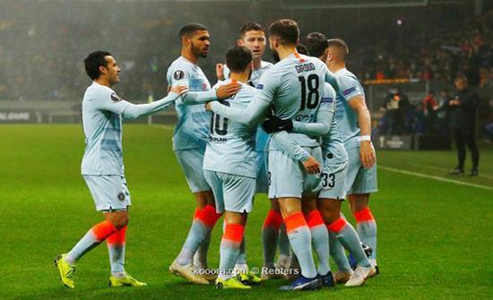 بالفيديو : تشيلسي يضمن تأهله بانتصار صعب في الدوري الأوروبي
