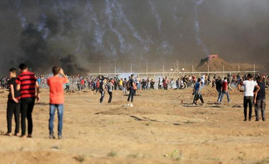 49 اصابة جراء اعتداء الاحتلال على مسيرات العودة شرق قطاع غزة