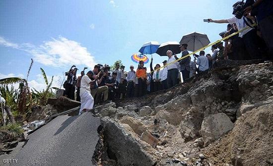 زلزال شدته 7.5 درجة يضرب إندونيسيا