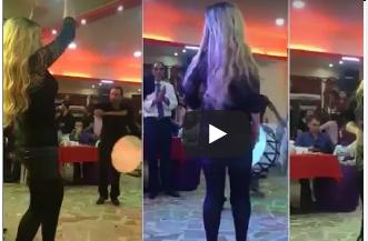 بالفيديو. تخطف الأنظار في حفل زفاف بوصلة رقص على الطبلة