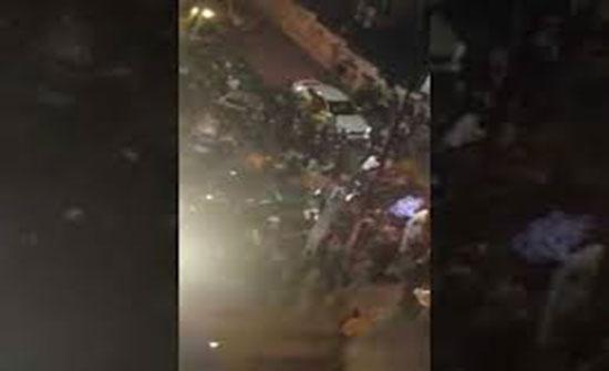 بالفيديو : مشاجرة في شارع الرينبو في ليلة رأس السنة