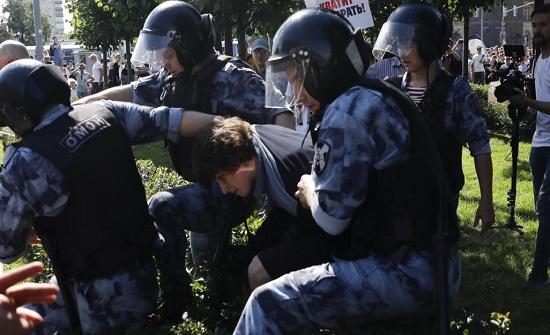اعتقال 1000 متظاهر في موسكو