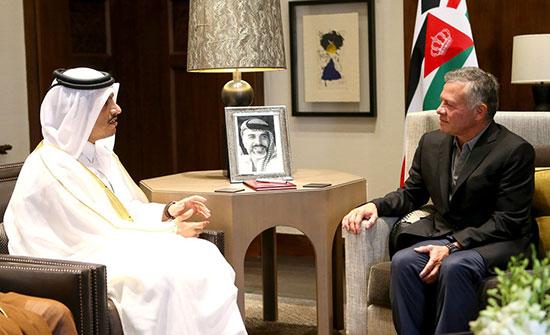 الملك يستقبل وزير الخارجية القطري