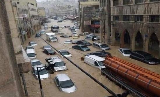 مؤتمر صحفي للحديث عن آثار الضرر الذي تعرض له تجار وسط البلد اثر الفيضانات
