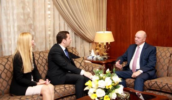 الفايز يلتقي رئيس الملتقى العالمي للشباب القيادي