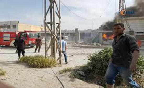 بالفيديو : قتيل وجرحى إثر انفجار سيارة مفخخة في منبج السورية