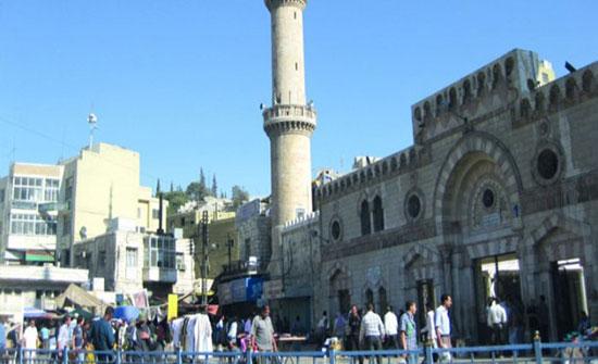 إصابة شخصين خلال صيانة المسجد الحسيني