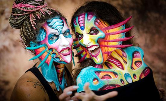 الفن يصنع العجائب...المهرجان الدولي للرسم على الجسم
