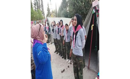 عجلون : اختتام معسكر المرشدات المتقدم لاقليم الوسط