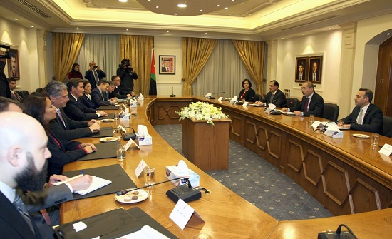 الصفدي يستقبل وفداً من لجنة القوات المسلحة بمجلس النواب الأميركي