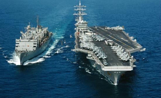 حاملة الطائرات الأمريكية رونالد ريجان تتجه إلى شبه الجزيرة الكورية