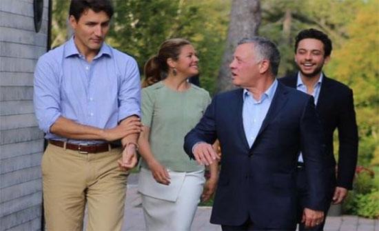 الملك وولي العهد يحضران عشاء عمل في منزل رئيس الوزراء الكندي