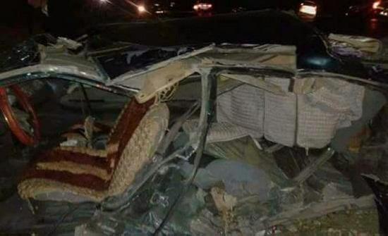 بالصور : وفاة سبعيني بحادث سير مروع في إربد