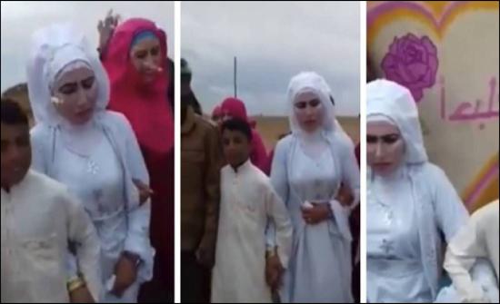 بالفيديو - ثلاثينية تتزوج من طفل في هذا البلد العربي