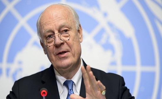 دي مستورا يلتقي وفدي الحكومة والمعارضة السورية في فيينا