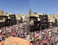 بالصور .. مسيرة أمام المسجد الحسيني ضد توقيع اتفاقية الغاز الاسرائيلي