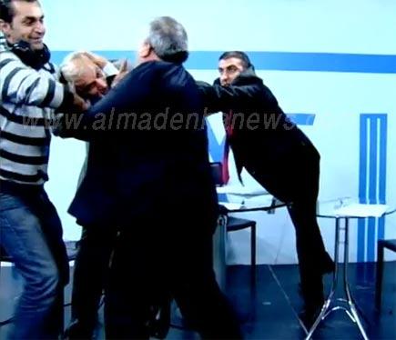 طوشة اردنية في قناة جوسات على الهواء مباشرة  ( فيديو )