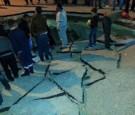 بالصور: انهيار مفاجئ لشارع رئيسي في كفرجايز بإربد