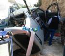 بالصور : 3 إصابات في حادث تصادم بين مركبتين وشاحنة متوسطة في جرش