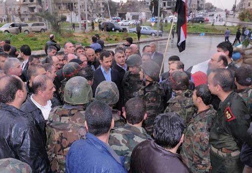 انباء عن تعرض موكب الاسد لاطلاق النار في حمص