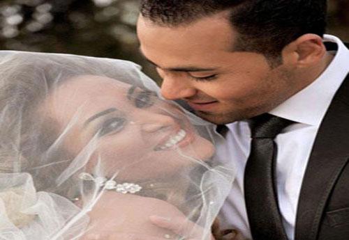 شاهدو صور العروسين قمر خلف ومهيار خضور