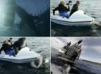 شاهد... قرش يهاجم طاقم تصوير على متن قارب صغير
