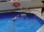 شاهد..  مكسيكي يغرق ابنة زوجته في مسبح فندق