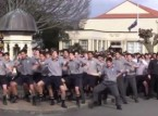 يرقصون في جنازة معلمهم