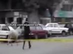 ضابط يجرى وراء حمار لمنعه من تفجير قنبلة والاهالى ينفجرون من الضحك