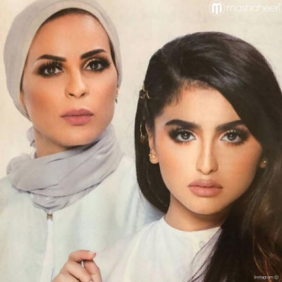 صورة: والدة حلا الترك تخلع الحجاب