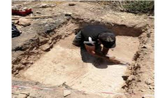 جرش: اكتشاف بقايا معمارية وأرضيات فسيفسائية بيزنطية