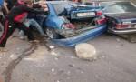 شاهد بالفيديو :  تصادم 27 سيارة في إربد