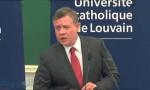 بالفيديو : كلمة الملك عبدالله الثاني بجامعة لوفان الكاثوليكية في بلجيكا