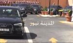 شاهد بالفيديو : موكب الملك  في العبدلي قبل وبعد خطاب العرش