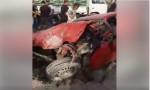 بالصور : اصابة 20 شخصاً اثر تصادم 27 مركبة في إربد