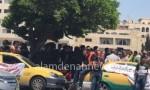 "صور : سائقو ""الاصفر""يعتصمون امام ""النواب"""