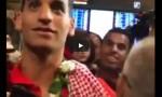 بالفيديو : عودة البطل الذهبي ابو غوش الى ارض الوطن