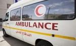 إصابة 3 أشخاص بحادث تدهور باص في العاصمة