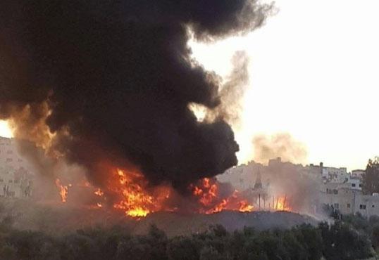 اربد.. حريق في سكن قرب جامعة اليرموك ولا اصابات