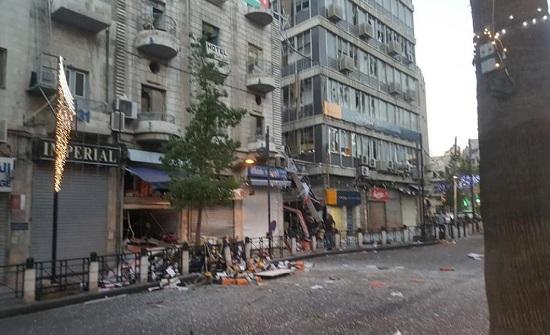 إصابة ثالثة خطيرة اثر حادث تسرب الغاز بمطعم وسط البلد