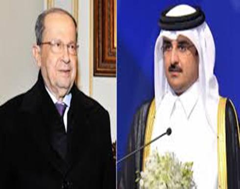 مباحثات بين أمير قطر والرئيس اللبناني