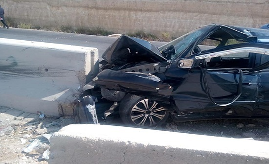 بالصور  : شاهدوا الحادث الذي اودى بحياة زوجين واصابة بالغة لطفلة في الزرقاء