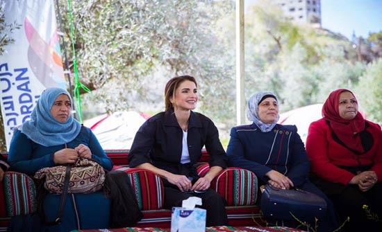 الملكة رانيا تشارك في الرميمين