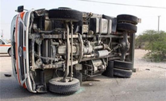 الزرقاء : إصابة 5 أشخاص اثر حادث تدهور مركبة