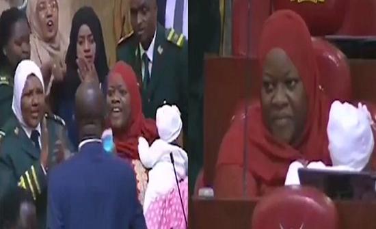 بالفيديو: ردة فعل نائبة طُردت من جلسة برلمانية بسبب طفلها الرضيع في كينيا