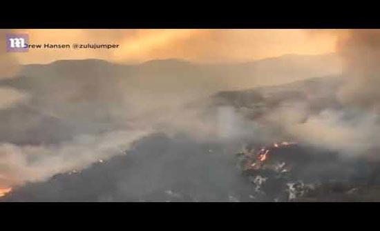 فيديو : أكثر من 100 حريق ضخم في الولايات المتحدة