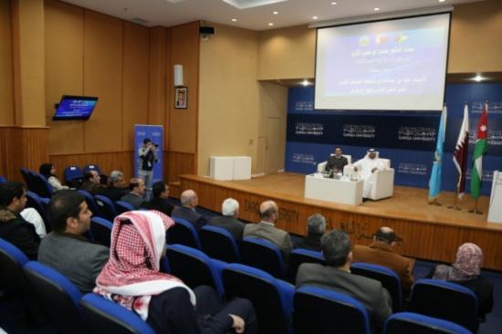 الملحق الثقافي القطري يلتقي الطلبة القطريين الدارسين في جامعة الزرقاء
